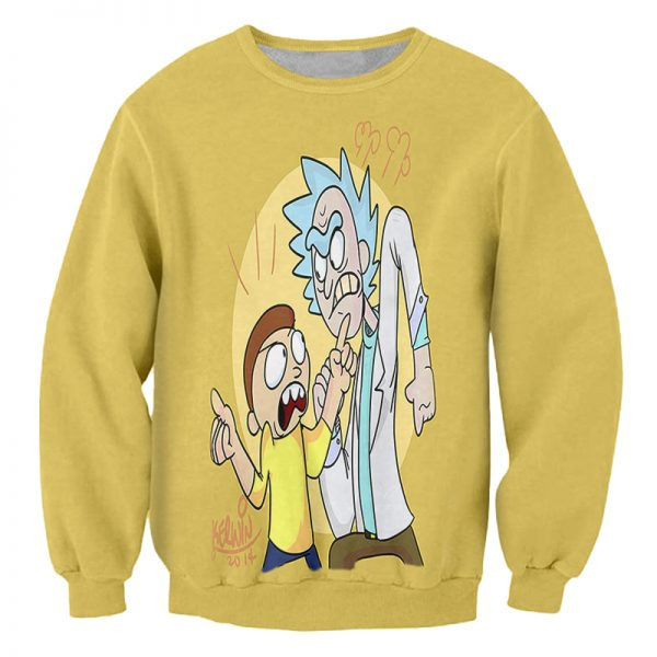 Rick And Morty Yellow Sweatshirt