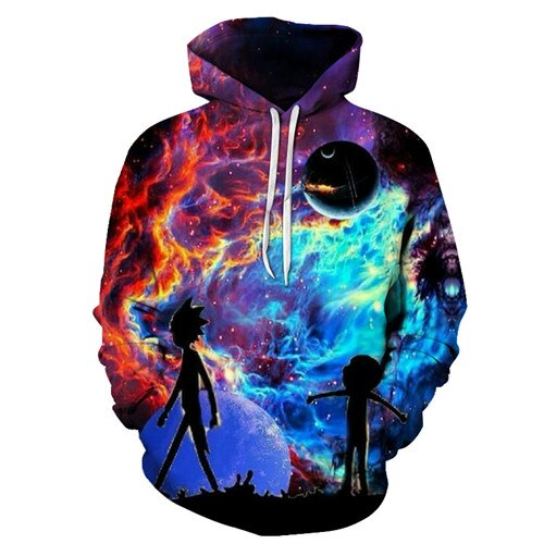 Winter Hot Rick And Morty 3D Hoodies