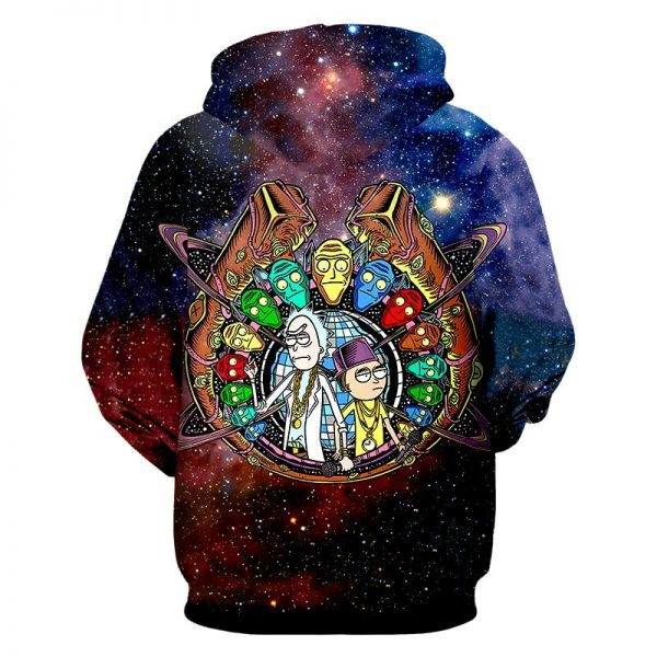 Galaxy Space Rick And Morty Hot Hoodie