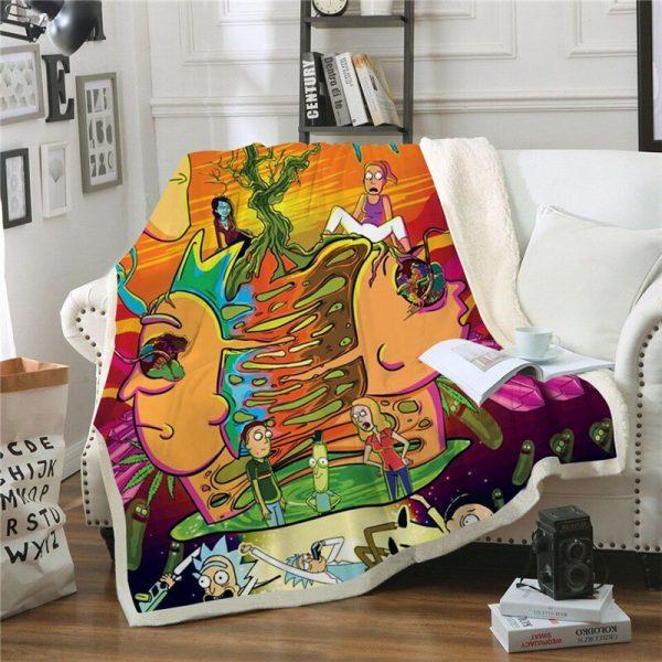 Rick And Morty Amazing Blanket