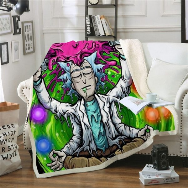 Funny Rick And Morty 3D Print Blanket