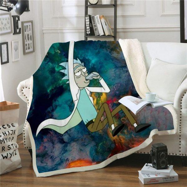 Rick Sanchez Fly Plush Blanket