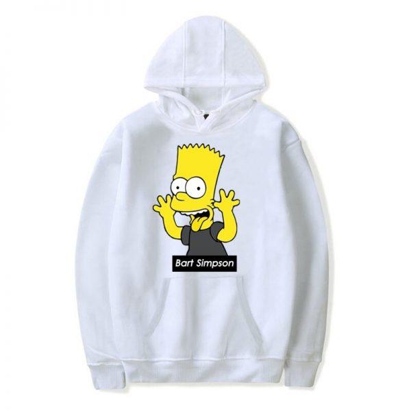 The Simpson Family Bart Simpson Printing Hoodies