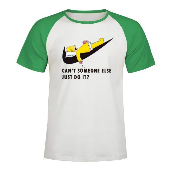 Brand Logo Simpsons Printed Raglan T-shirt