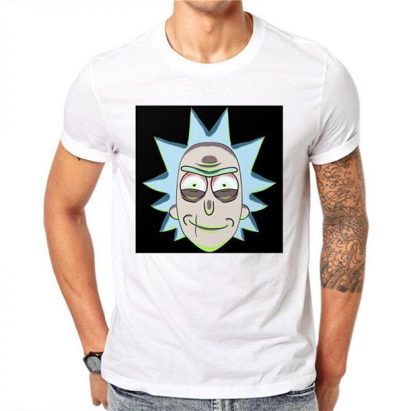 Rick Sanchez Portrait Unisex White T-shirt