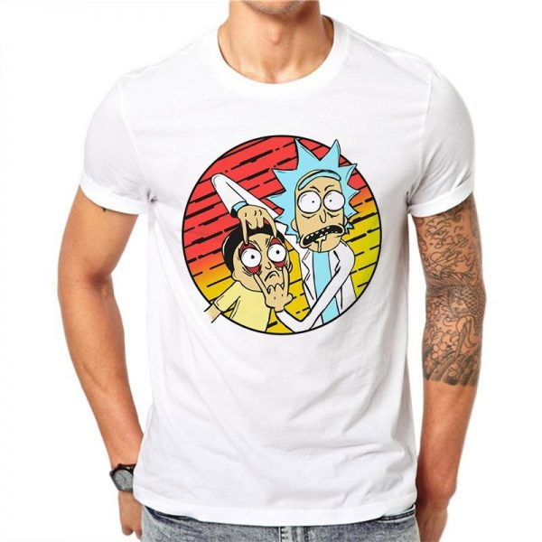 Funny Rick And Morty Unisex White T-shirt