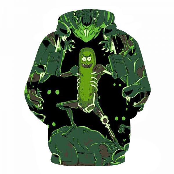 Best Seller Pickle Rick 3D Black Hoodie