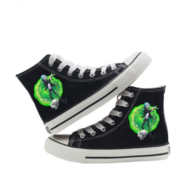 Funny Rick And Morty Canvas Converse