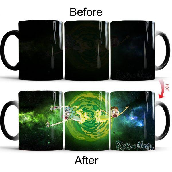 Rick And Morty Hot Sensitive Color Changing Mug