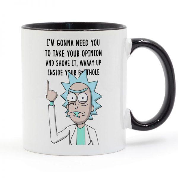 Shove it up Rick And Morty Printed Mug