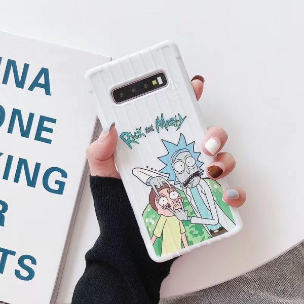 USA Cartoon Rick Morty 3D Case For Samsung