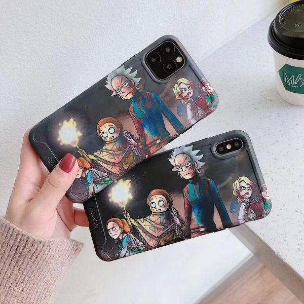Western Cartoon Rick & Morty Iphone Case