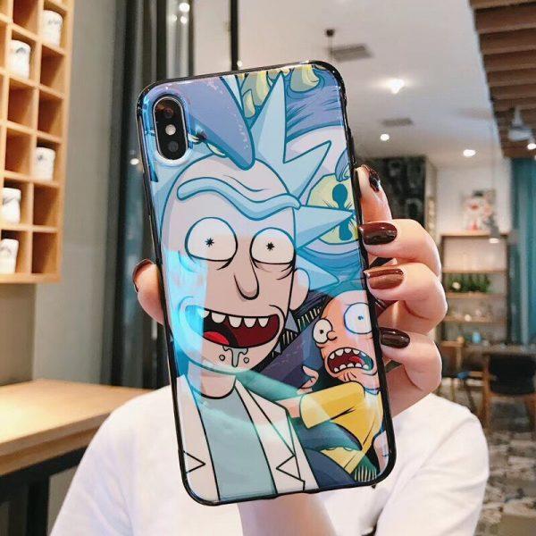 Rick Ând Morty Blue-ray Iphone Case