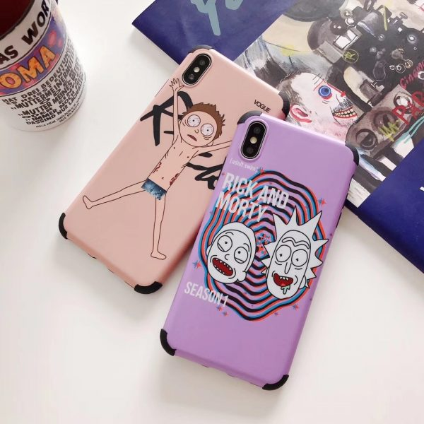Cute Rick And Morty American Cartoon Case