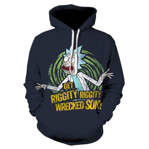 Get Rickety Wrecked Son Hoodie 3D Printed Hoodie