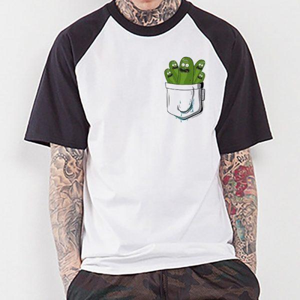 Funny 2020 Pickle Rick Raglan T-shirt