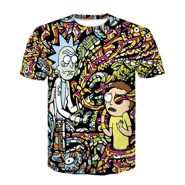 Rick And Morty Style 3D T-shirt