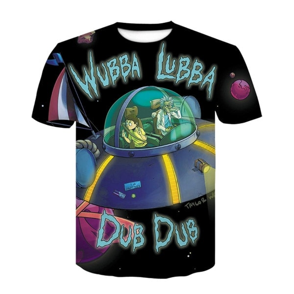 Rick And Morty Wubba Lubba 3D T-shirt