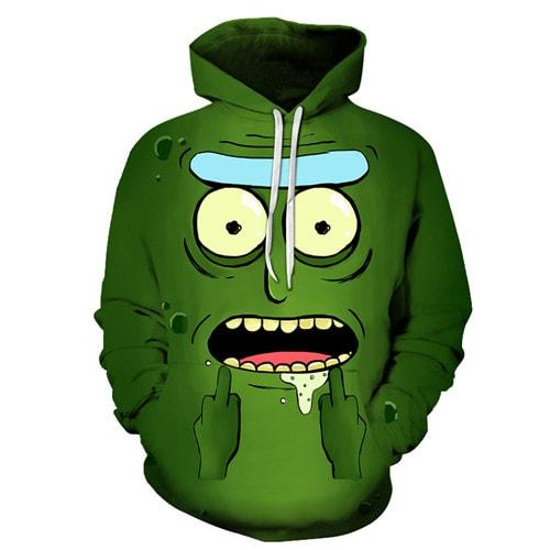 Pickle Rick Cute 2020 3D Hoodie