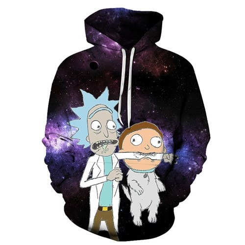 New Cute Rick And Morty 2019 3D Hoodie