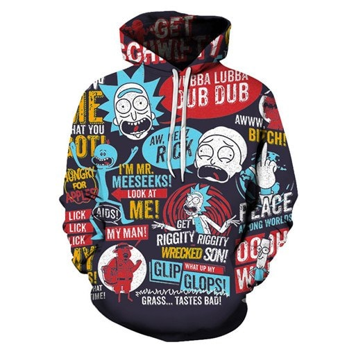 Rick And Morty Theme 3D Hoodie