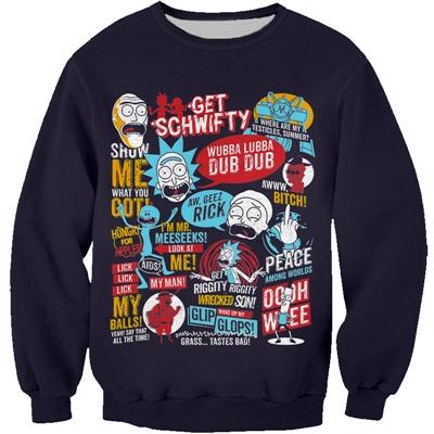 Rick And Morty Combinable Sweatshirt