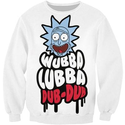 Rick And Morty Wuba Luba Magic Sweatshirt