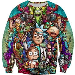 Rick And Morty Fight 3D Sweatshirt