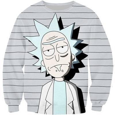 Rick And Morty Gray Sweatshirt