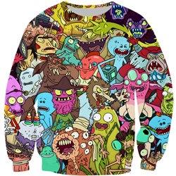 Rick And Morty Vibrant 3D Sweatshirt