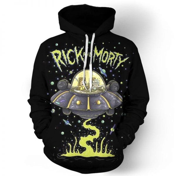 Rick And Morty UFO Funny Sweater
