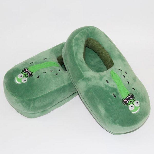 Pickle Rick Winter Plush Shoes