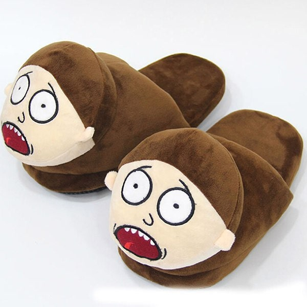Cute Morty Smith Plush Shoes