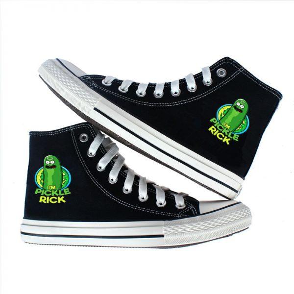 Cute Pickle Rick Converse Shoes