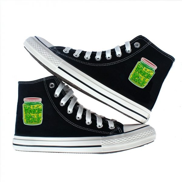 Pickle Rick In The Bottle Converse Shoes
