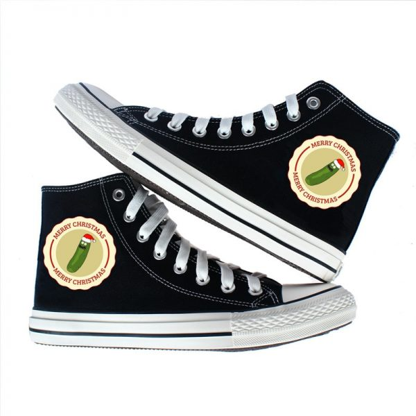 Awesome Pickle Rick Converse Shoes