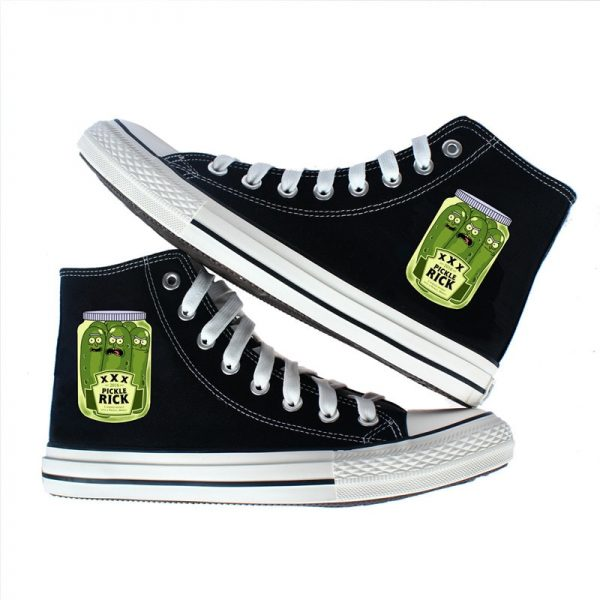 New Pickle Rick Converse Shoes