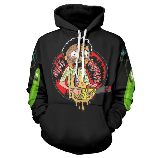 New Morty Smith 3D Black Hoodie