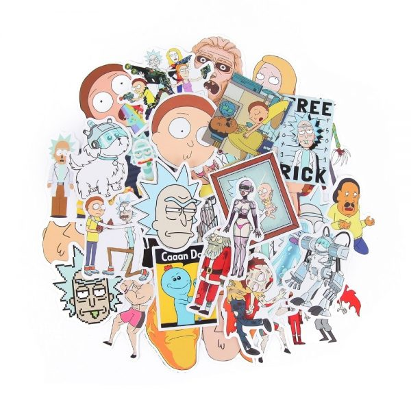 35Pcs/lot Rick and Morty Funny Sticker [ Pack of 3 ]
