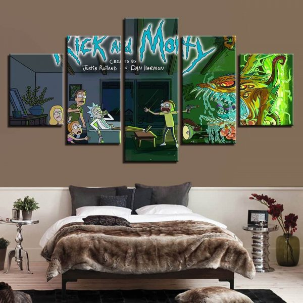 Rick And Morty Style 3D Decor Wallpapers