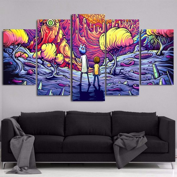 5 Pieces Decor Rick And Morty Wallpapers