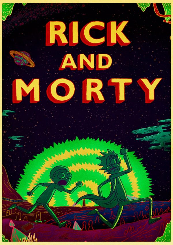 New 2020 Rick And Morty Retro Poster