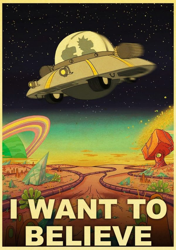 I Want To Believe Retro Poster