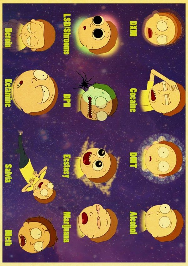 All Type Of Morty Smith Retro Poster