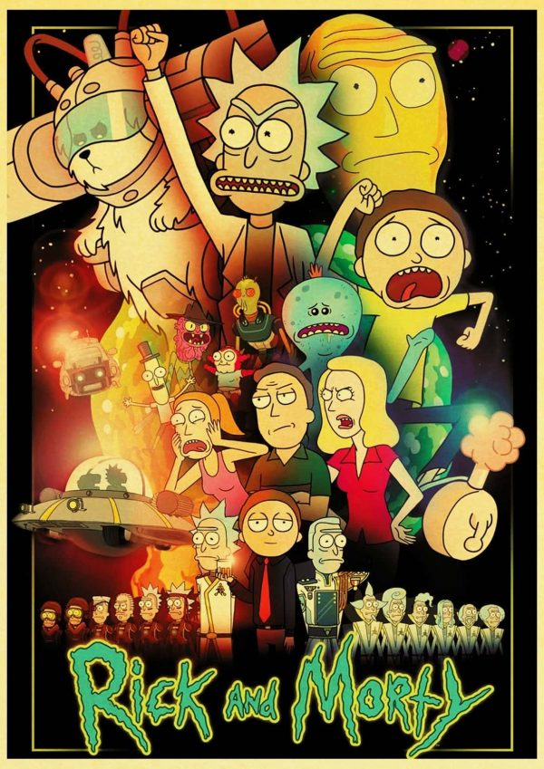 New Rick And Morty Retro Poster