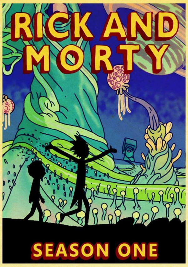 Rick And Morty Season 1 Retro Poster