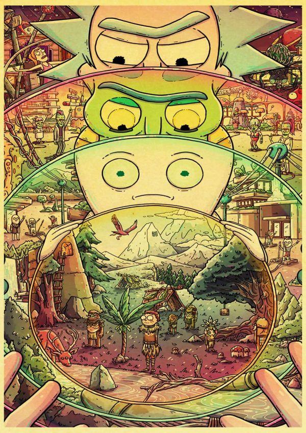 Rick Sanchez Retro Poster