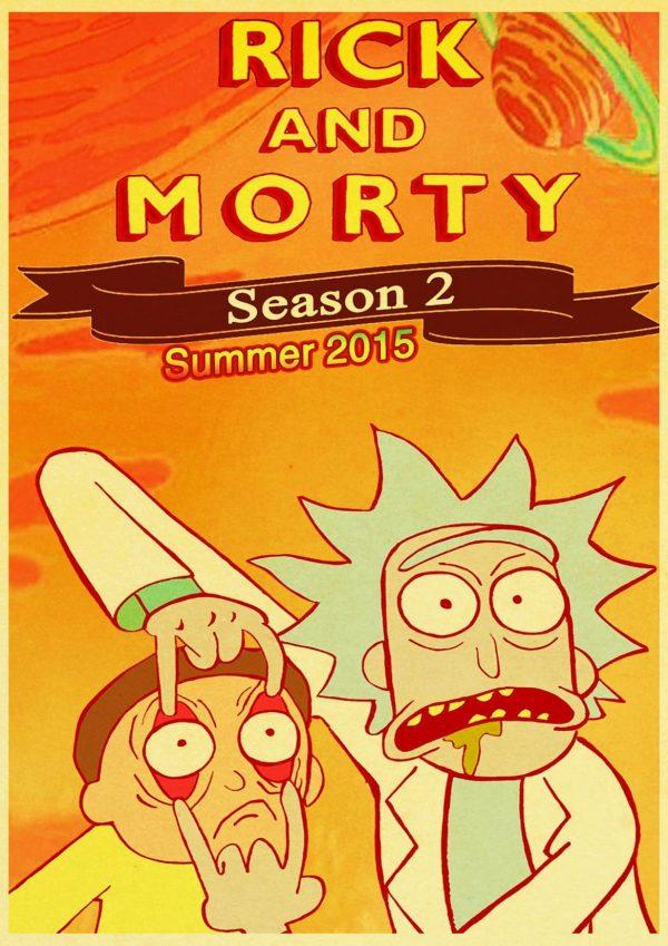 Rick And Morty Season 2 Retro Poster