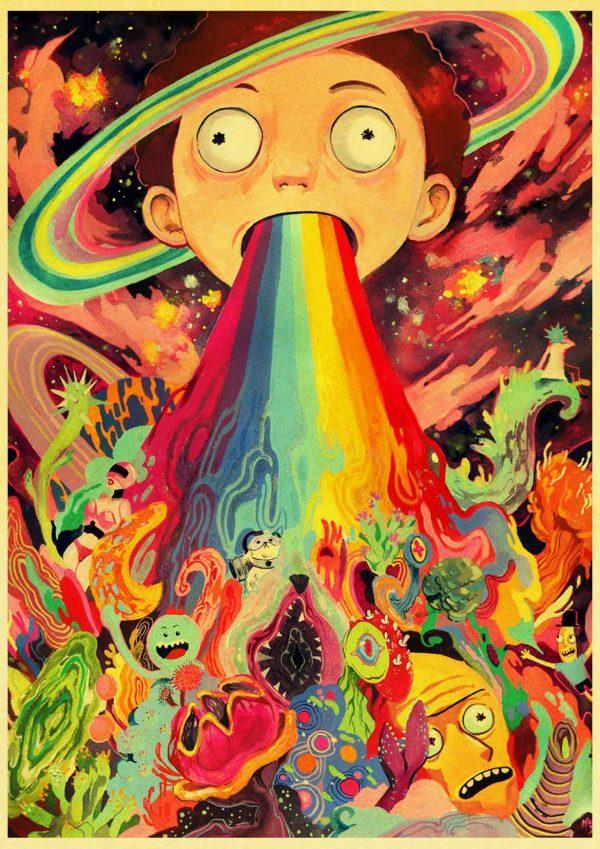 Cute Morty Smith Retro Poster
