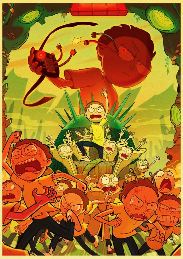 Cool Morty Smith Retro Poster